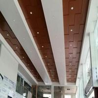 广汽本田4s店展厅木纹勾搭式铝单板吊顶