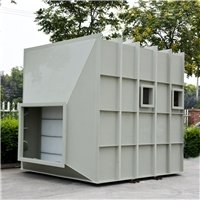 PP板材质卧式喷淋塔内部结构特点