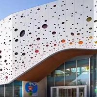艺术冲孔铝单板外墙-不规则铝单板穿孔