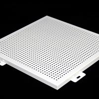 墙面.0mm白色穿孔镂空雕花铝单板
