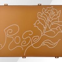 3mm厚闪银氟碳漆雕花铝单板