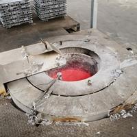 800KG燃气熔铝炉 天然气熔铝炉厂家