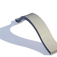 铝方通厂家加工定制 木纹弧形铝方通