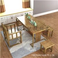 生产中式全铝茶几客厅茶桌定制全铝家具