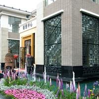 恒大銷售外墻T字形碳灰鋁窗花藝術之美