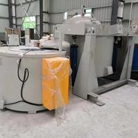 600KG可倾斜熔铝炉 坩埚式电炉