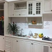 全铝家居铝合金橱柜定制全铝地柜厨房家具