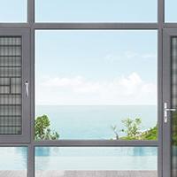 康洛斯门窗125幕墙窗、平开门铝合金门窗