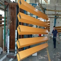 木纹拉弯吊顶造型铝方管-定制厂家