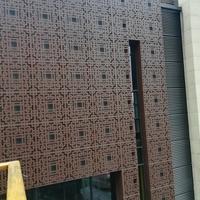 镂空冲孔铝板-门头图案镂空铝板