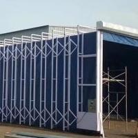 工业喷漆专项使用伸缩移动喷漆房价格