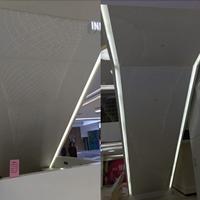商场扶手电梯侧裙包边异形穿孔铝单板定制