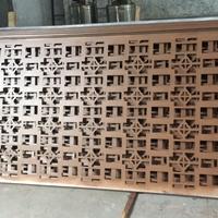 镂空造型孔铝板-雕花铝花格门头
