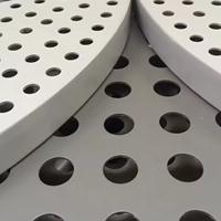 供应杭州高铁站应用白色冲孔铝单板