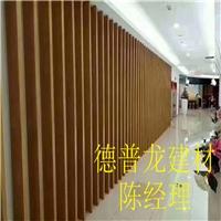 职业校区背景墙弧形铝方通-波纹形铝板