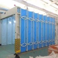 移動伸縮噴漆房結構簡易操作方便可加工