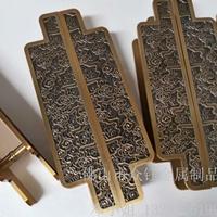 铝板雕刻镀铜拉手 会议室大门镀铜拉手