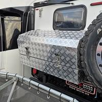 五条筋花纹铝板定制高等户外房车公用工具箱