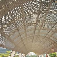雨棚咖啡色氟碳烤漆雕花铝板