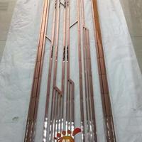 定制欧式玫瑰金镜面不锈钢屏风不锈钢花格