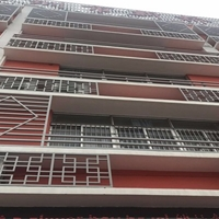 新建学校装修仿古木纹色铝合金花格  屏风