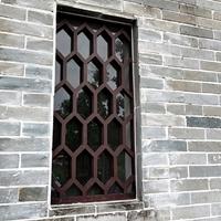 仿古中式豪宅铝屏风焊接成型