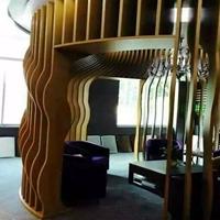 餐厅包房弧形年夜树铝方通-包柱外型铝方通