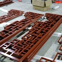 仿古木纹铝花格批发厂家 批量定制生产