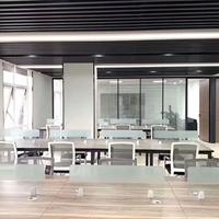 辦公室鋁格柵吊頂 黑色鋁格柵