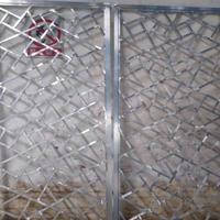 冰裂纹铝花格屏风窗花工厂报价