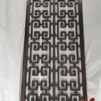 实心红古铜铝艺雕刻隔断 中式红古铜 实拍