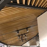 服裝店吊頂U型木紋鋁方通 U槽鋁通批發