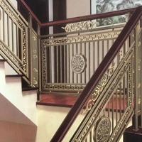 10mm铝板雕刻钛金楼梯护栏