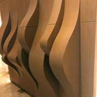 学校图书馆装饰弧形方通_装饰造型铝方通