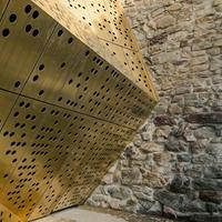几何图案透光冲孔铝单板-突变年夜小孔板