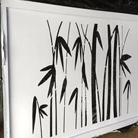 白橡木热转印木纹镂空铝板 5mm铝板雕刻