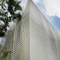 镂空穿孔颜色铝板-透光铝单板冲孔