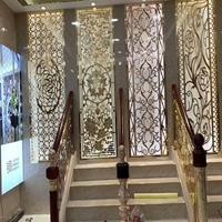 铝板雕花屏风 金属隔断装饰材料
