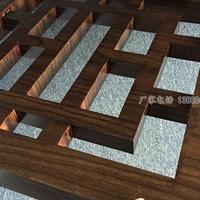 四川寺庙装饰铝合金格栅铝屏风