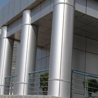 包柱铝单板厂家-透光雕花包柱铝单板