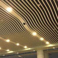 木纹弧形铝方通定制厂家木纹造型铝方通