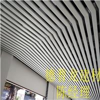 酒店门头装饰弧形铝方通-木纹铝四方管
