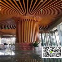 淼森豬肚雞吊頂鋁方管意大利餐廳木紋鋁方管
