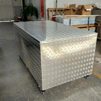 五條筋花紋鋁板定制多功能鋁合金工具箱