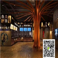 木纹弧形铝方通厂家-木纹外墙铝方通装饰