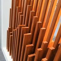純色木紋色型材四方鋁方通 凹槽鋁方通