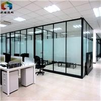 百叶钢化玻璃隔断墙移动高隔间