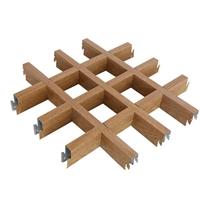 廠家直銷通風吊頂鋁格柵 木紋鋁格柵天花