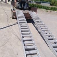 高強度鋁合金跳板叉車專用鋁跳板