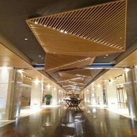 图书馆造型幕墙弧形铝方通_弧形幕墙铝方通